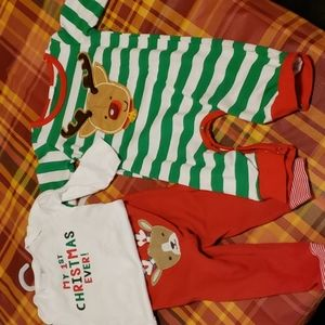 Carters Christmas outfits just like new.
